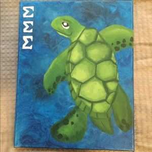 Tri Sigma turtle canvas